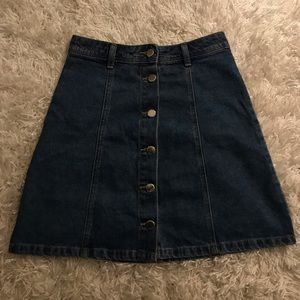 Mid-wash Denim Mini Skirt